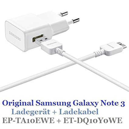 Samsung EP-TA10EWE 2 Pin charger with ET-DQ10Y0WE Data Cable ...