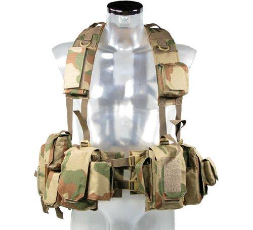 BE-X Kampfmittelweste EPHOD / IDF mit abnehmbarer Erste-Hilfe Tasche - rooivalk