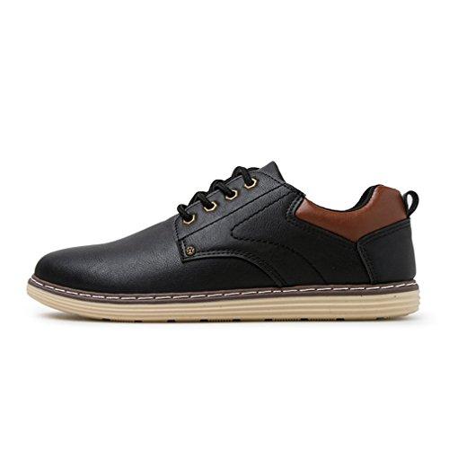 ロデオ分割性差別[QIFENGDIANZI]靴 メンズ モカシン ウォーキングシューズ カジュアルシューズ レースアップ  クッション コンフォート 通気性 滑り止め 通勤 黒 ブラウン ブルー