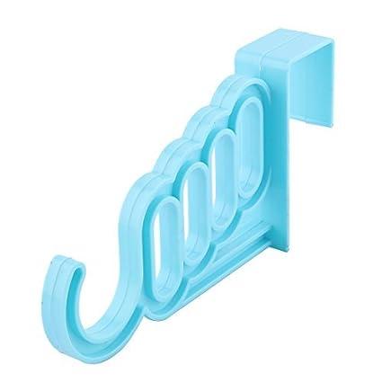 eDealMax plástico Inicio Sala de puerta del armario de colgador de ropa Toalla bufanda calcetín cuelga
