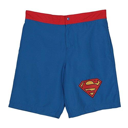 DC Comics Superman Logo Mens Boardshorts (Large)