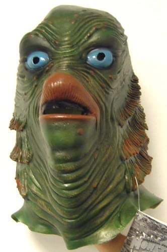 Rubie's Men's Universal Studios Creature From The Black Lagoon Latex Mask, AS SHOWN, One Size -