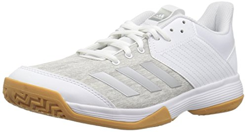 adidas Women's Ligra 6 Volleyball Shoe, White/Silver Metallic/Grey, 8.5 M US