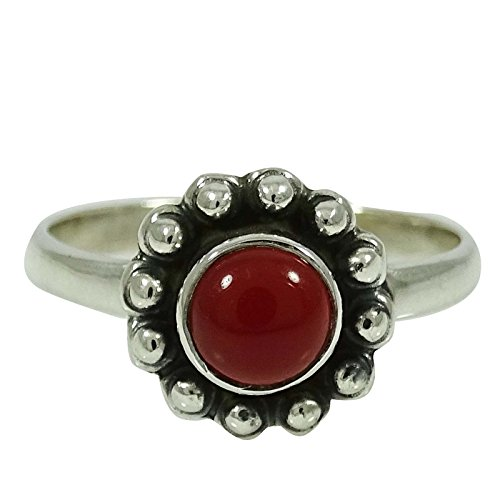 - Banithani Carnelian Gemstone Ring 925 Sterling Silver Jewelry Gift For Her