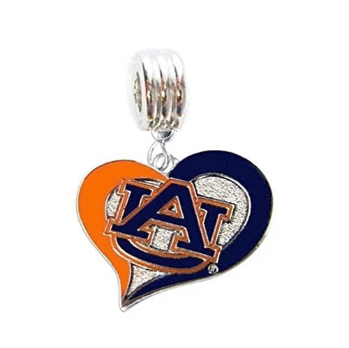 (Heavens Jewelry AU Auburn University Charm Tigers Team Charm Slide Pendant for Your Necklace European Charm Bracelet (Fits Most Name Brands) DIY Projects ETC)