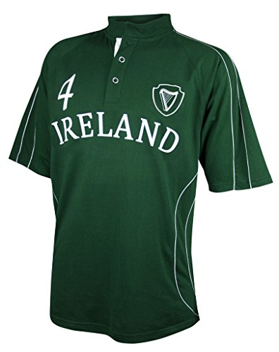 England Rugby Six Nations - CROKER Green Ireland Spiral Rugby Jersey