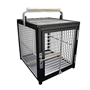 King's Cages ATT 1214 Aluminum Parrot Bird Cage pet Travel Carriers Cages Toy Toys 2
