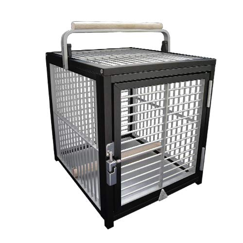 Kings Cages ATT 1214 Aluminum Parrot Bird Cage pet Travel Carriers Cages Toy Toys