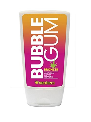Soleo Bubble Gum bronzing sunbed tanning lotion cream (15ml sachet)
