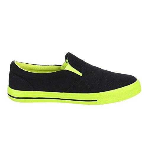 Sport Pour Occasionnels Chaussures design Femmes Faible Moderne Noir Italien De H537 OqxXwH5