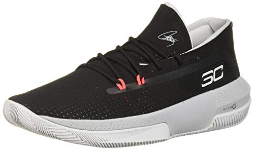 Under Armour Men's SC 3ZER0 III Basketball Shoe, Black (001)/Mod Gray, 7