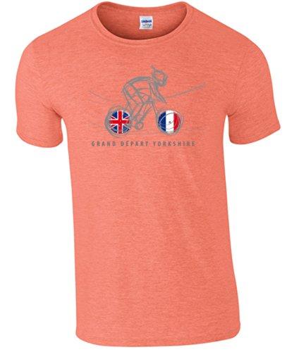 de jaspeado color camiseta manga Ciclo 360 gris de corta YEqw85