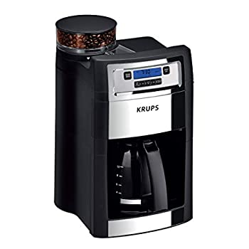 Image of KRUPS KM785D50 Grind and Brew Auto-Start Maker with Builtin Burr Coffee Grinder, 10-Cups, Black