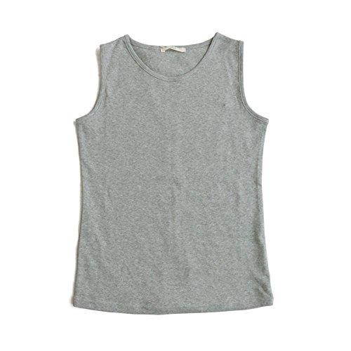 雄弁家間違えた緊張(スプル) Souple タンクトップ タンク 胸元フィット 太ストラップ Uネック 綿100% フライス 無地