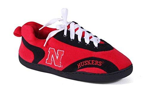 Happy Feet Mens Och Kvinna Ncaa College Runt Tofflor Nebraska Cornhuskers