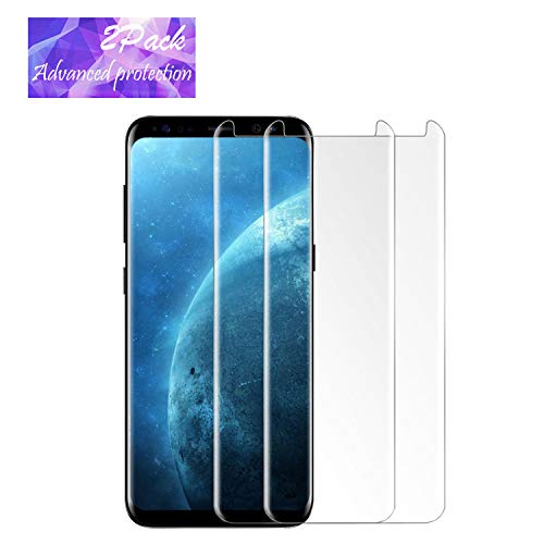 LEDitBe Galaxy S8 Plus Screen Protector, [2PACK][9H Hardness][Anti-Scratch][Anti-Bubble][3D Curved] [High...