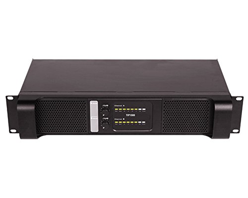 Tulun play TIP1300 2 Channel 4300 Watts 2U Class D Rack Mount Bridgeable/ 2x1300 Watts at 8ohm /2x2150 Watts at 4 ohm DJ Outdoor Band Studio Professional Power Amplifier