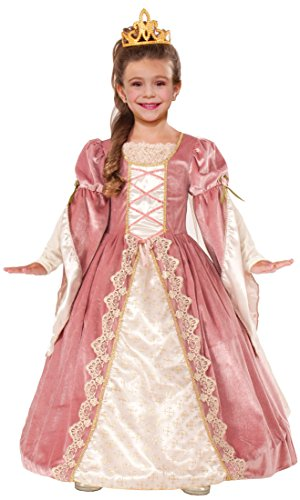 Forum Novelties Designer Collection Deluxe Victorian Rose Costume Dress, Child Large (Costume Victorian)