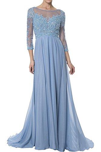 Linie Hell Rock Brautmutterkleider A Abendkleider Ballkleider La Langarm Blau Perlen Marie Luxurioes Braut Lang 7vFqgUv