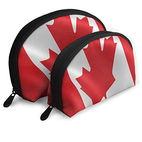 Halloween Makeup Canada (Makeup Bag Flag Of Canada Portable Shell Cosmetic Bags For Girlfriend Halloween Gift 2)