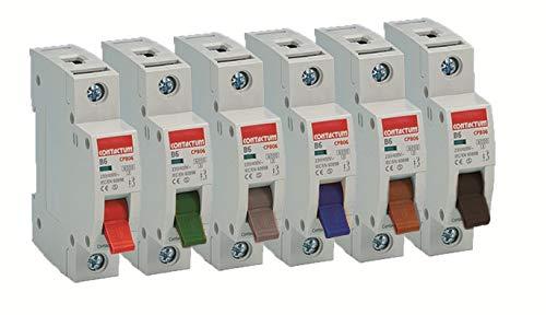 Contactum CPB03 Type B SP MCB, 3 A, 6 kA -1 Pack CPB03-1PACK