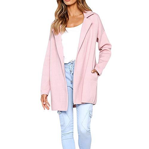 - URIBAKE ❤ Fashion Women's Long Jacket Autumn Winter Solid Turndown Collar Pocket Long Sleeve Coat