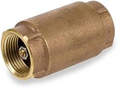 "Smith-cooper International Cv30l Series Brass Check Valve, Potable Water Service, 1"" Npt Female"