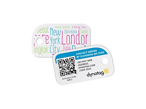 Dynotag Web/GPS enabled QR Smart Mini Fashion Tags - 3 Identical Tags for Gear (Cityhopper) Photo #3