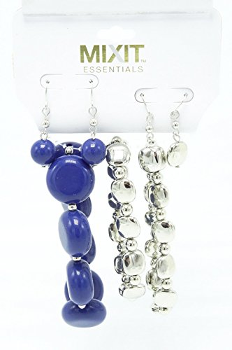What Is Popular In Jewelry Trends. New Blue & Silver Bracelets & Earrings Set by Mixit #jewelrytrends