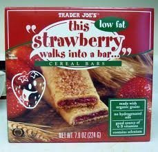 2 Pack Trader Joe\'s This Strawberry Walks Into a Cereal Bar 6 Bars