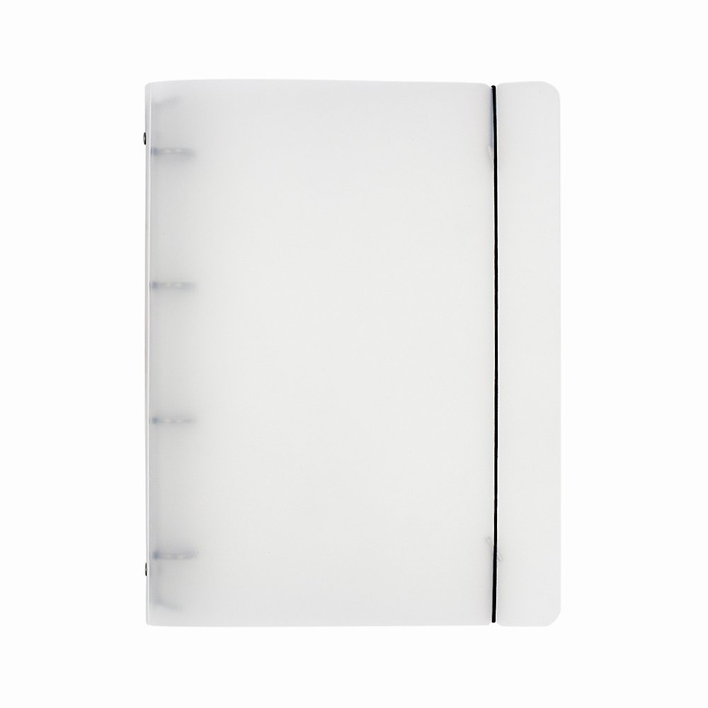 Plastic Transparent File Folder Round Ring Binder Notebook Cover, A4 with 4 holes Tong Yue