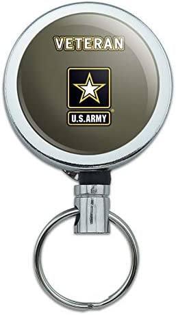 U.S Army MOS 91G Patient Administration Specialist Round ID Badge Key Card Tag Holder Badge Retractable Reel Badge Holder with Belt Clip