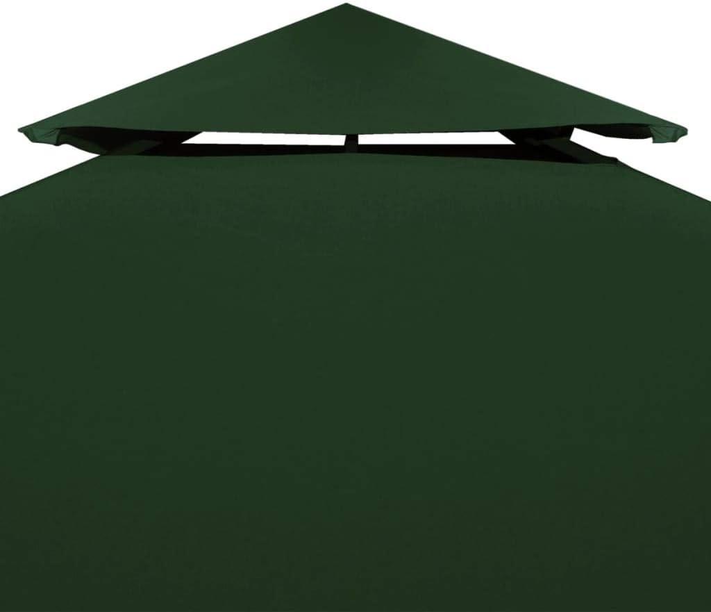 vidaXL Toldo de Cenador de Repuesto Tela Impermeable Verde 3x3m Techo Pérgola: Amazon.es: Hogar