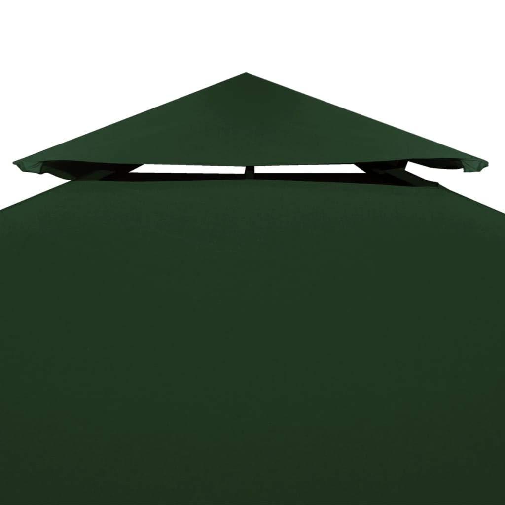 vidaXL Toldo de Cenador de Repuesto Tela Impermeable Verde 3x3m ...