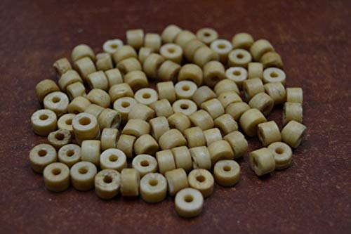 (Bead Jewelry Making Art Supplies 200 PCS Coffee Brown Round Buffalo Bone Beads 6MM)