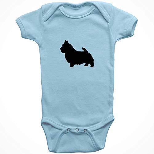 Stickerslug Norwich Terrier Dog Onesie Baby Clothes Jumper (Light Blue, 18 Months) b11029