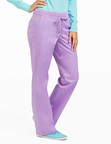 Med Couture Women's Freedom Scrub Pant, Purple Haze/Blue Crush, Small Tall