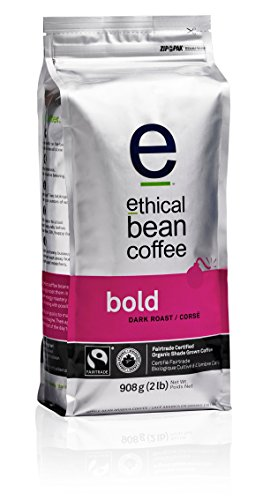 Bold Ethical Bean Coffee: Dark Roast Whole Bean Coffee - USDA Certified Organic Coffee, Fair Trade Certified - 2 lb Coffee Bag (908 g)