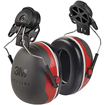 3M PELTOR Ear Muffs, Noise Protection, Hard Hat Attachment, NRR 25 dB, Construction, Manufacturing, Maintenance, Automotive, Woodworking, Heavy Engineering, Mining, X3P3E