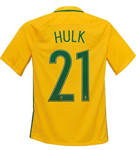 絶妙痛みスカウト(ナイキ) NIKE 16 17ブラジル代表 ホーム 半袖 フッキ コパアメリカセンテナリオ2016バッジ付 724597-703