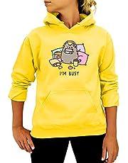 GYDD I'm Busy Hoodie voor dames, met capuchon, sweatshirt met capuchon