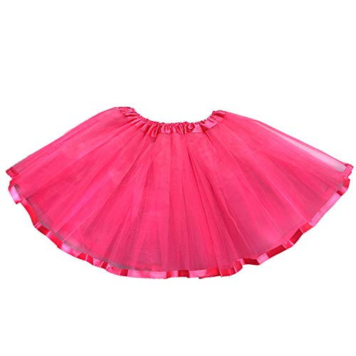 storeofbaby Girls Tutu Skirt Classic Layered Tulle Party Dance Pettiskirt Costume Rose -