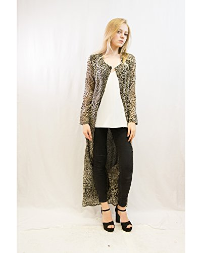 Manga Mujer Larga Leopard Mix Para Vestido Products Exceptional Print ExqwtvzE
