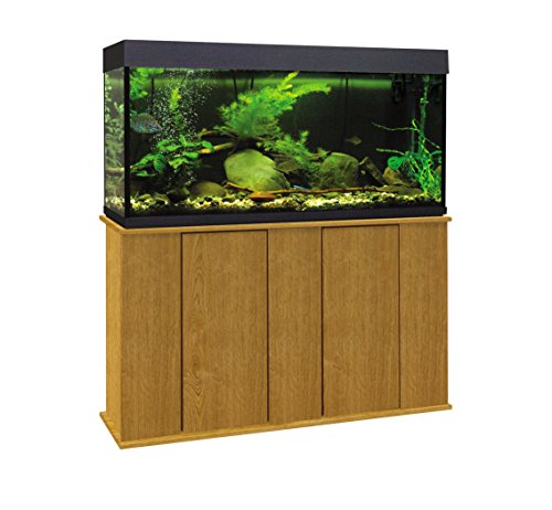 Aquatic Fundamentals 36551-44-AMZ 55 Gallon Upright Aquarium Stand, Solar Oak