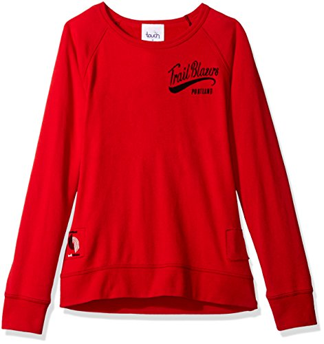 Touch by Alyssa Milano NBA Portland Trail Blazers Women's Dugout Reversible Pullover Sweatshirt, X-Large, Red ()