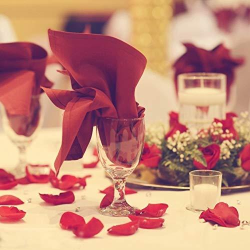 DomeStar Artificial Flower Petals 2000PCS Fake Rose Petals Fabric Petals Silk Red Rose Petals for Romantic Night Wedding Valentines