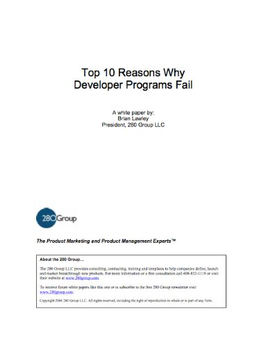 Top 10 Reasons Why Developer Programs Fail (Why Programs Fail compare prices)