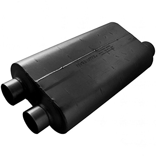 (Flowmaster 530513 50 Big Block Muffler - 3.00 Dual IN / 3.50 Offset OUT - Mild Sound)