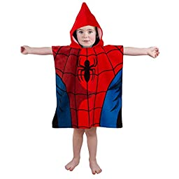 Ultimate Spider Man City Poncho Hooded Towel by Disney