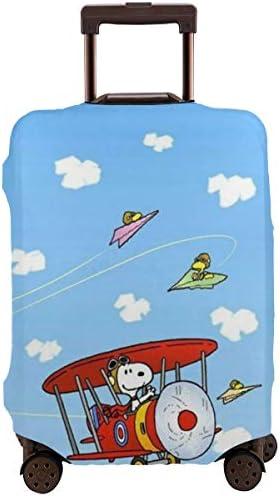 スーツケースカバー スヌーピー 防水 傷防止 防塵 出張 旅行 キャリーカバー ラゲッジカバー かわいい トランクカバー おしゃれ S M L XL